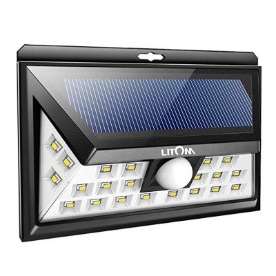 LITOM 24 LED Solar Lights Outdoor, 3 Optional Modes Wireless Motion Sensor Light: