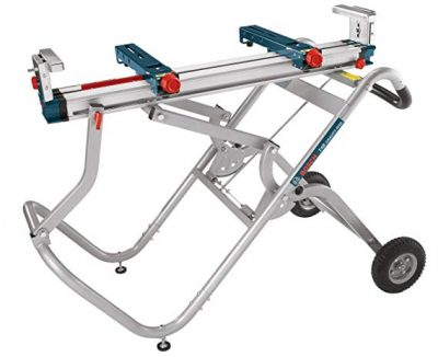 3. Bosch Portable Gravity-Rise Wheeled Miter Saw Stand T4B: