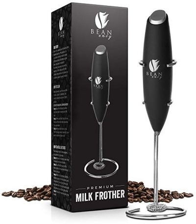 Bean Envy Electric Milk Frother Handheld, Perfect For The Best Latte, Whip Foamer: