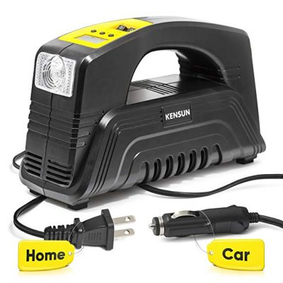 Kensun AC/DC Rapid Performance Portable Air Compressor Tire Inflator: