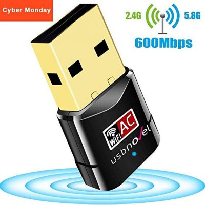 USB WiFi Adapter 600Mbps USBNOVEL Dual Band 2.4G / 5G: