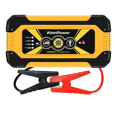 Keenpower Portable Car Jump Starter 900A Peak 18000mAH (Up to 6.0L Gas Engine) Auto Battery Booster Power Pack: