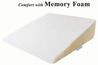 "InteVision Foam Bed Wedge Pillow (26"" x 25"" x 7.5"") - 2"" Memory Foam:"