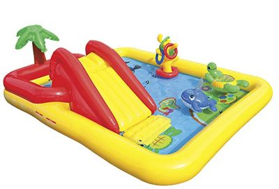 """Intex Ocean Inflatable Play Center, 100"""" X 77"""" X 31"""", for Ages 2+:"""
