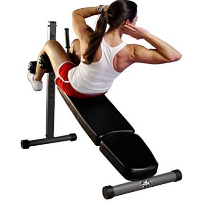 XMark 12 Position Adjustable Sit-Up Ab Bench With Bullhorn Handle: