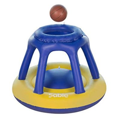 Sable Inflatable Pool Basketball Hoop with one Basketball: