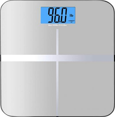 BalanceFrom Digital Body Weight Bathroom Scale with Step-On Technology and Backlight Display, 400 Pounds, Silver by BalanceFrom: