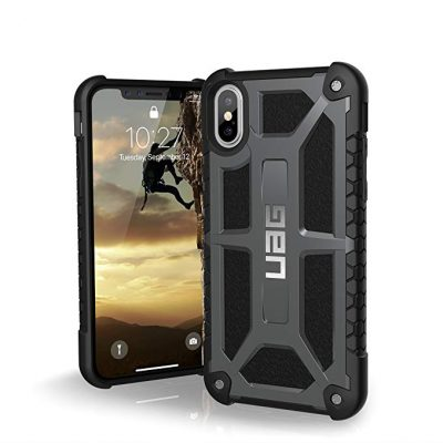 URBAN ARMOR GEAR UAG iPhone Xs/X [5.8-inch Screen] Monarch Feather-Light Rugged [Graphite] Military Drop Tested iPhone Case: