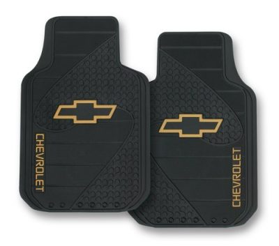 Plasticolor 001381R01 Chevy Factory Style Trim-To-Fit Molded Front Floor Mats - Set of 2: