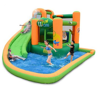 KIDWISE Endless Fun 11 in 1 Inflatable Bouncer and Water Slide: