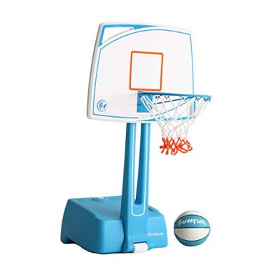Harvil Poolside Basketball Hoop with Smart Backboard Storage: