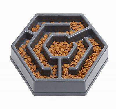 IAMUQ Slow Feeders - Dog Bowl - Pet Interactive Fun Health Slow Feeder Bloat Stop Dog Cat Food Water Bowl: