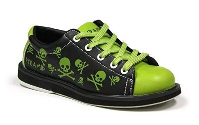 Pyramid Youth Skull Green/Black Bowling Shoes: - Bowling Shoes for Kids