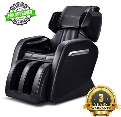 Full Body Massage Chair, Zero Gravity & Air Massage, Foot Roller, Shiatsu Recliner, with Heater and Vibrating Black by OOTORI: