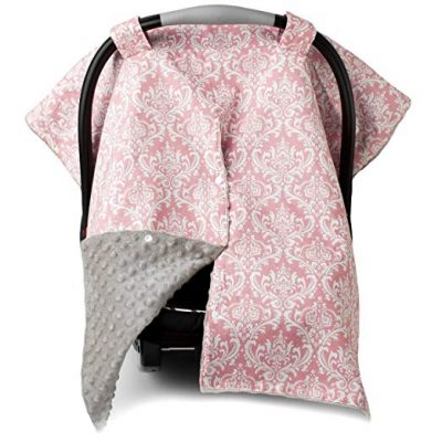 2 in 1 Carseat Canopy and Nursing Cover Up with Peekaboo Opening | Large Infant Car Seat Canopy for Girl by Kids N' Such:
