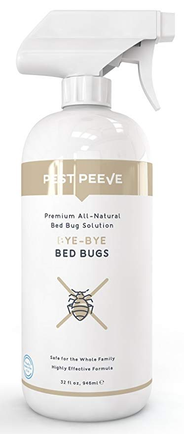 Pest Peeve Bye-Bye Bed Bugs - Powerful, Natural Bedbug Killer Spray: