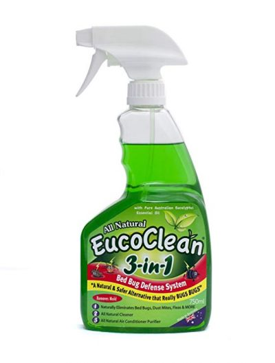 Eucoclean 3-in-1 Natural Bed Bug Spray Killer and Defense System, 750ml: