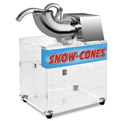 Costzon Electric Stainless Steel Ice Shaver Machine Crusher Snow Cone Maker, 440lbs/hr: