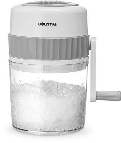 Gourmia GIC9635 Ice Shaver – Manual Hand Crank Operated Ice Breaker with Stainless Steel Blades for Fast Crushing – BPA Free: