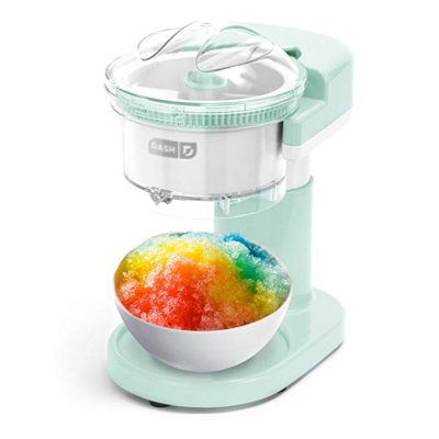DASH DSIM100GBAQ02 Shaved Ice Maker + Slushie Machine with Stainless Steel Blades: