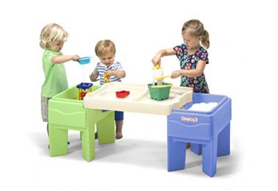Simplay3 Indoor Outdoor Sand and Water Activity Table with Storage: