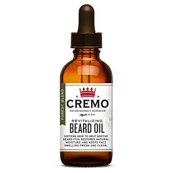 Cremo Beard Oil, Forest Blend - Restores Moisture, Softens And Reduces Beard Itch for All Lengths Of Facial Hair, 1 Ounce:
