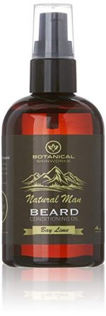 3. Botanical Skin Works Natural Man Bay Lime Beard Oil, All Natural Beard Conditioner, 4 oz.: