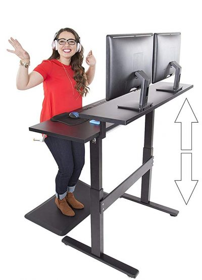 Tranzendesk Dual Level Standing Desk - 47 inch Long by Stand Steady: