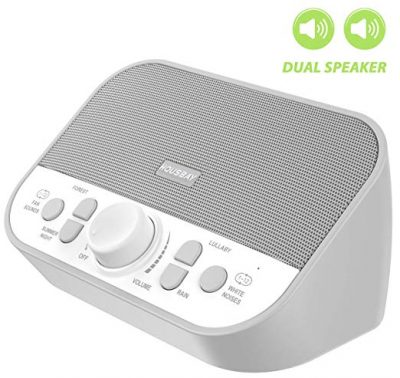 Housbay Sound Machine - White Noise Machine for Sleeping with 28 Soothing Sounds Headphone Jack: