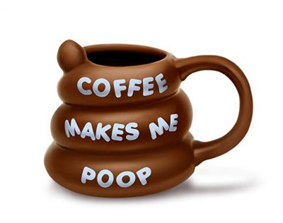 14. BigMouth Inc Coffee Makes Me Poop Mug, Funny Gag Gift, 14 oz Brown Ceramic Coffee Mug: