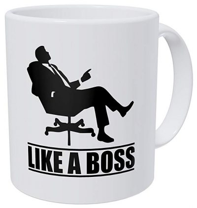 Wampumtuk Like A Boss, Chair - 11 Ounces Funny Coffee Mug: