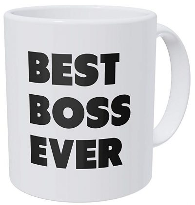 Wampumtuk Best Boss Ever 11 Ounces Funny Coffee Mug: