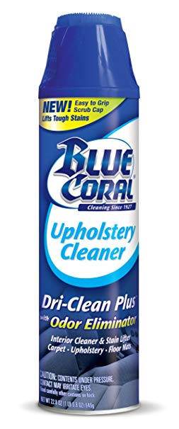 Blue Coral DC22 Upholstery Cleaner Dri-Clean Plus with Odor Eliminator, 22.8 oz. Aerosol: