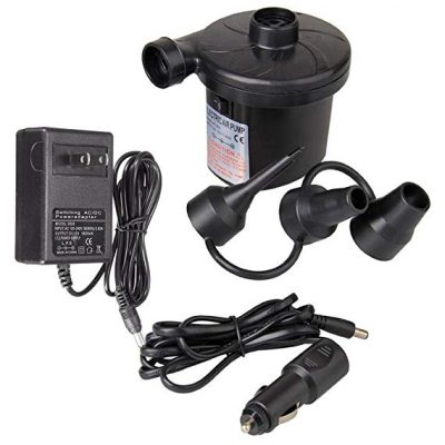 iPstyle Electric Air Pump for Inflatables, Portable Quick-Fill Air Mattress Pump with 3 Nozzles: