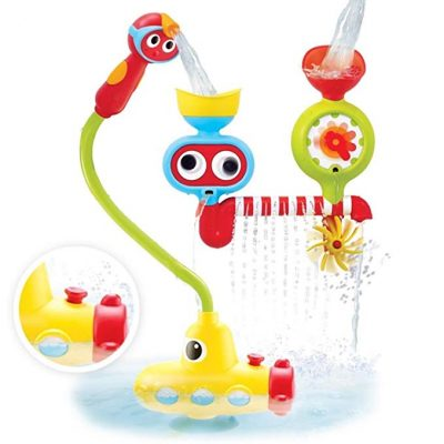 12. Yookidoo Bath Toy - Submarine Spray Station - Battery Operated Water Pump with Hand Shower and More: