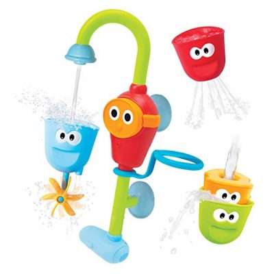 11. Yookidoo Baby Bath Toy - Flow N Fill Spout - 3 Stackable Cups and Automated Spout: