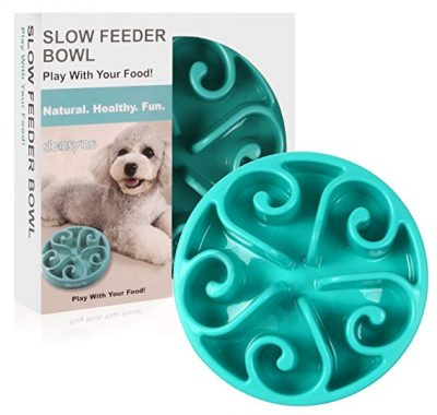 Siensync Slow Feeder Dog Bowl, Non Slip Puzzle Bowl Fun Feeder Interactive Bloat Stop Dog Bowl: