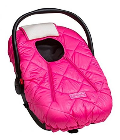 Cozy Cover Premium Infant Car Seat Cover (Pink) with Polar Fleece: