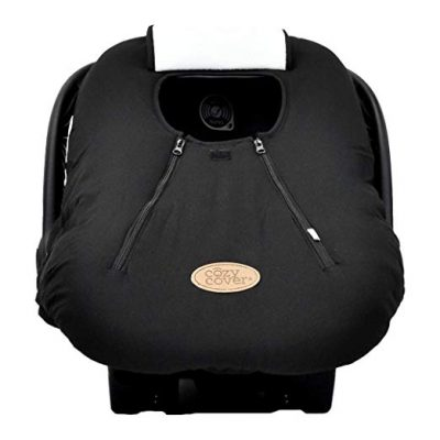 Cozy Cover Infant Car Seat Cover (Black) - The Industry Leading Infant Carrier Cover:
