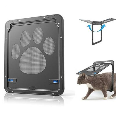 CATOOP Pet Dog Cat Screen Door, Pet Screen Door Protector for Sliding Door, Automatic Lock/Lockable: