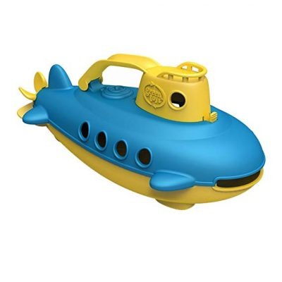 Green Toys Submarine in Yellow & blue - BPA Free, Phthalate Free, Bath Toy with Spinning Rear Propeller.:
