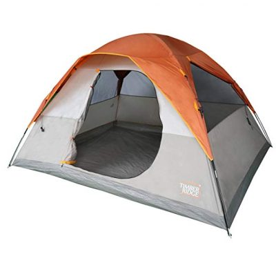 Timber Ridge 6 Person Dome D Door Tent Camping/Traveling Family Tent Portable Rain Fly with Carry Bag: