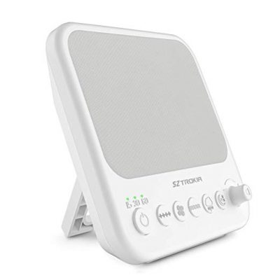 White Noise Machine, SZTROKIA Sleep Sound Machine with 10 Nature Sound, 3 Auto-Off Timer, Sound Therapy with USB Output Charger: