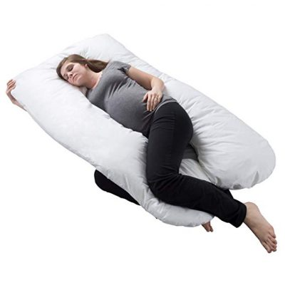 Pregnancy Pillow, Full Body Maternity Pillow with Contoured U-Shape by Bluestone: