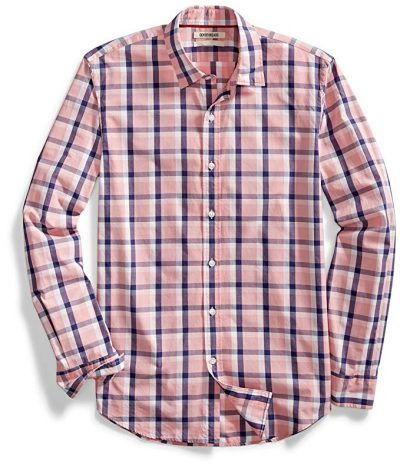 17. Goodthreads Men's Standard-Fit Long-Sleeve Two-Color Windowpane Shirt: