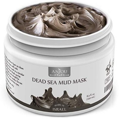 Anjou Dead Sea Mud Mask, Made in Israel, Deep Pore Cleansing and Detoxifying: