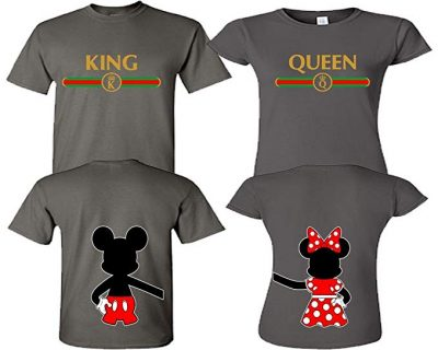 LIFESTYLE39 King and Queen Shirts, Matching Couple Shirts, His and Her Shirts: