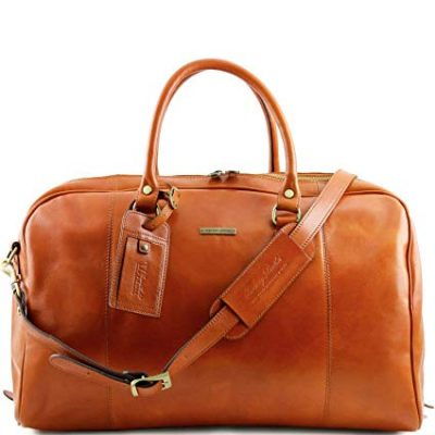 17. Tuscany Leather TL Voyager Travel leather duffle bag Honey: