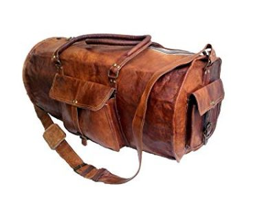 "14. Jaald 24"" Genuine Leather Men's Duffel bag:"