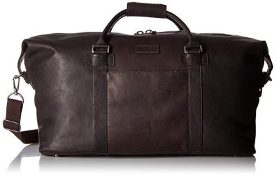 "Kenneth Cole Reaction I Beg To Duff-er Colombian Leather 20"" Single Compartment Top Zip Travel Duffel Bag, Brown:"